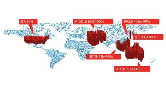 Mapa mundial circuncisión